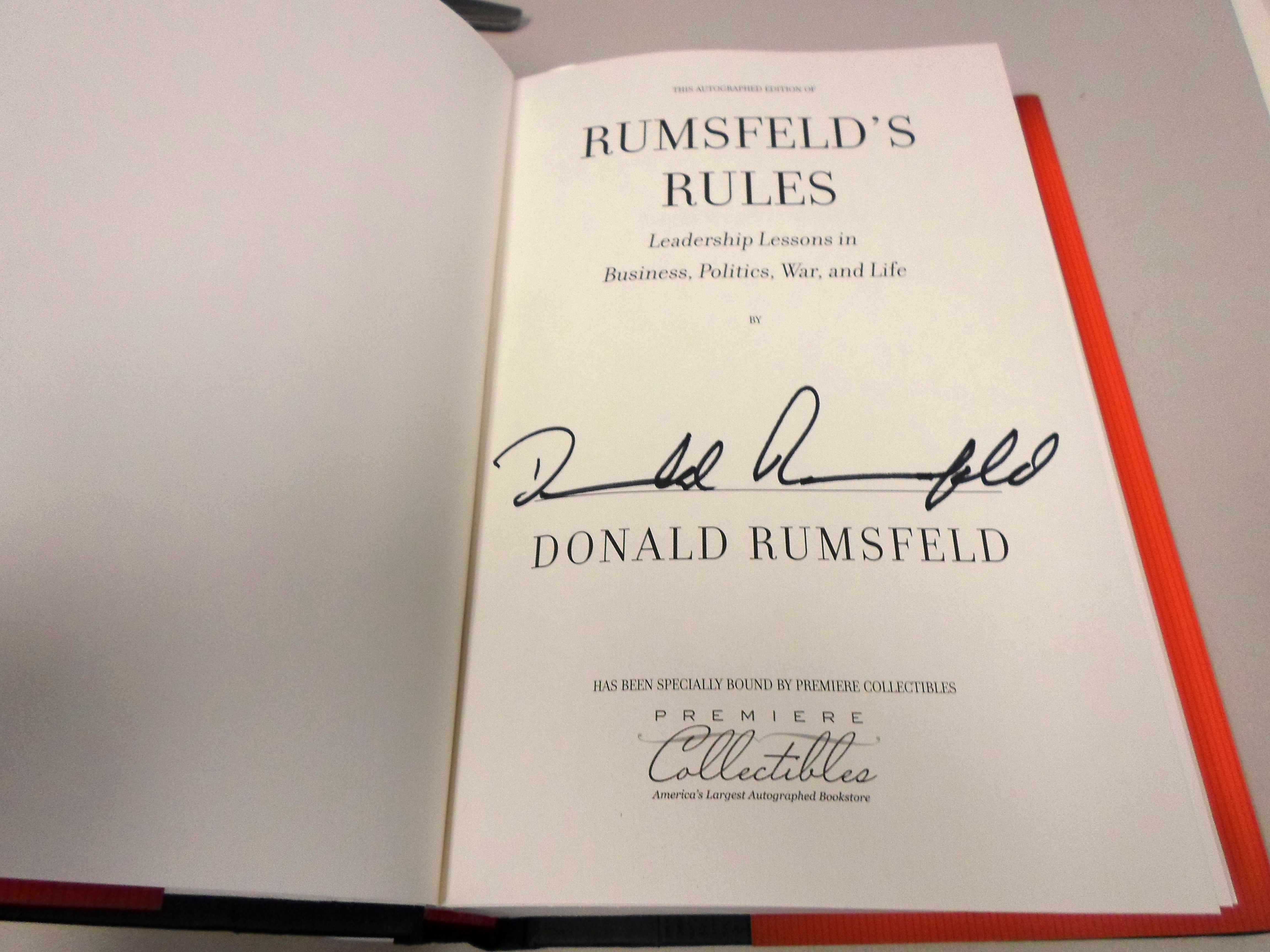 Rumsfeld S Rules Premiere Collectibles